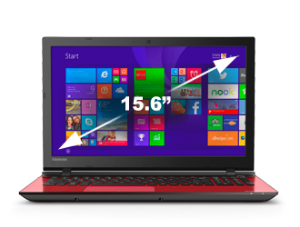 "Portatil Core® i5 5Ta. Generación Toshiba L55-C5211R Satellite® 15.6"" LED 6Gb 1Tb Dvd±Rw Rojo"