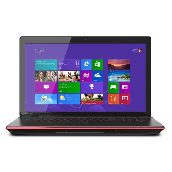 "Portatil Gamer Core® i7 4Ta. Generación Toshiba  X75-A7298  Qosmio® 17.3"" 3Gb Video So-Dimm Ddr3 256Gb 1Tb Dvd±Rw Blu-ray Negro Rojo"